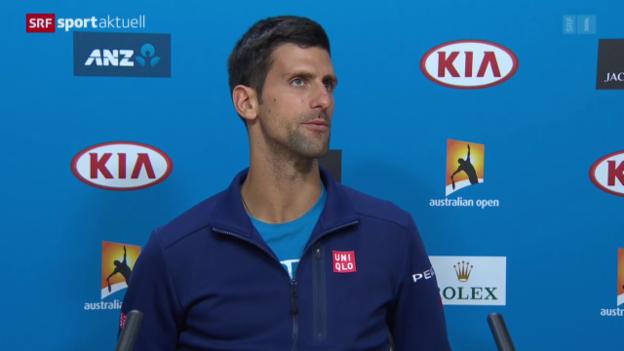 Video «Hochspannung vor Djokovic-Murray» abspielen