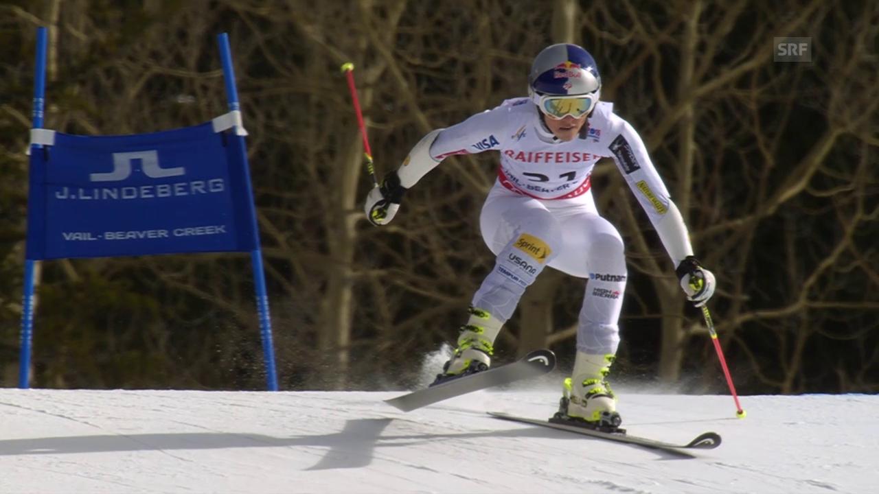 Ski: WM, Riesenslalom Frauen, 2. Lauf Vonn