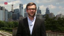 Video «Korrespondent Peter Düggeli zu Kaine» abspielen