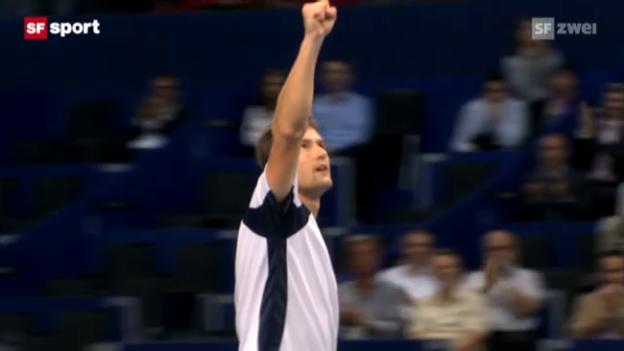 Video «Basel 2012: Chiudinelli schlägt Garcia-Lopez» abspielen