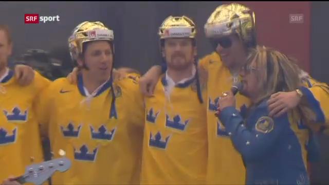 Eishockey: Ehrung der schwedischen Weltmeister («sportaktuell»)