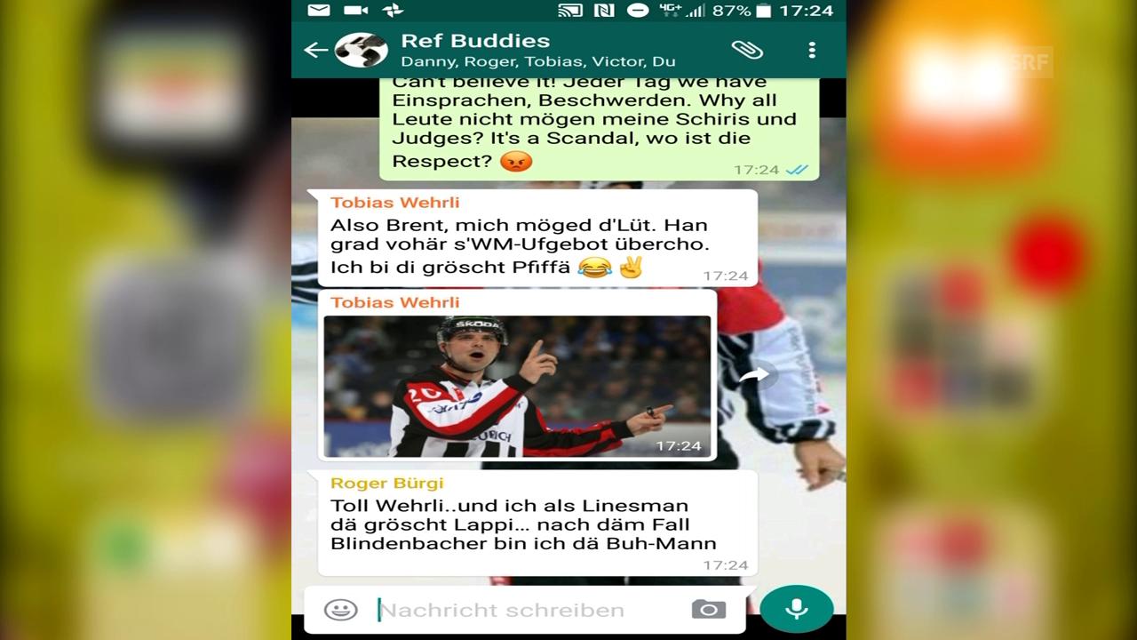 Der geheime WhatsApp-Chat der NLA-Schiris