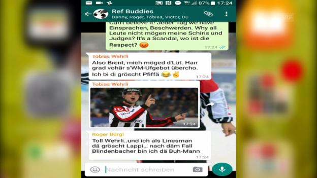 Video «Der geheime WhatsApp-Chat der NLA-Schiris» abspielen