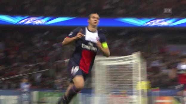 Video «Fussball: Paris SG - Benfica Lissabon» abspielen