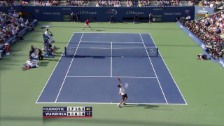 Video «US Open: Matchbericht Wawrinka - Djokovic» abspielen