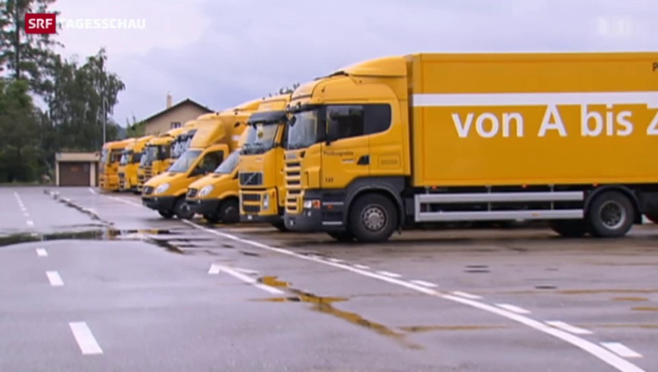 Die Post legt ihre LKW-Flotte still