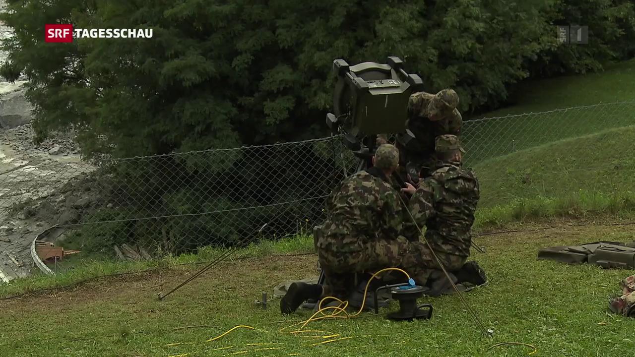 Spezialisten der Armee am Piz Cengalo im Einsatz