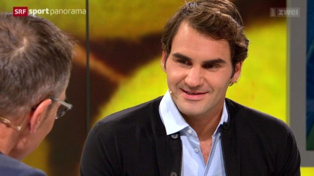 Video «Tennis: Studiogast Roger Federer, Teil 2» abspielen