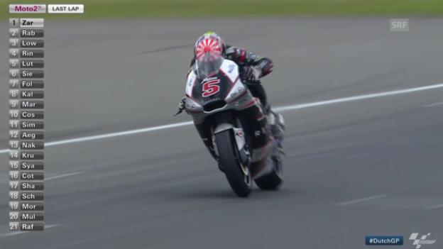 Video «Moto2: GP von Holland, Zieleinfahrt» abspielen