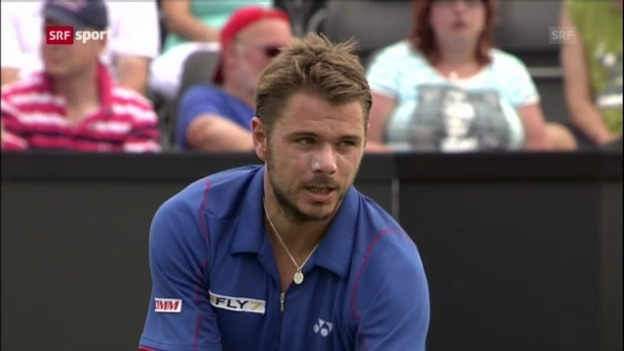 Video «ATP s-Hertogenbosch: Wawrinka - Darcis» abspielen