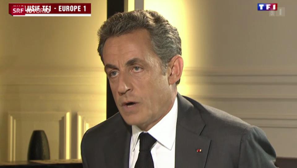Sarkozy erklärt sich am Fernsehen
