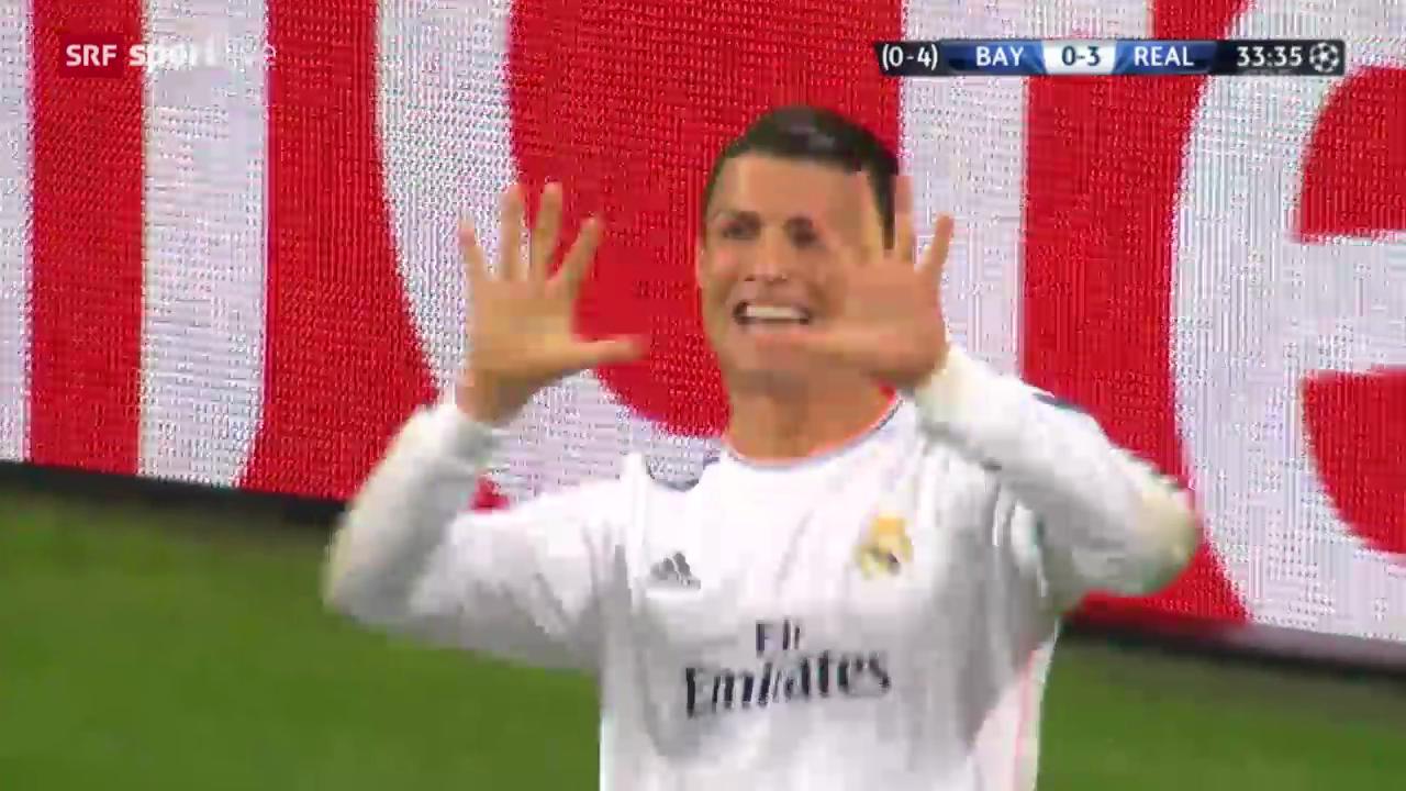 Fussball: Cristiano Ronaldos CL-Rekordtreffer gegen die Bayern