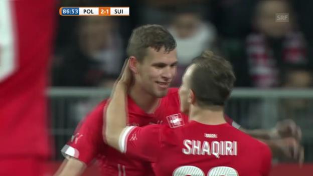 Video «Fussball: Live-Highlights Polen - Schweiz» abspielen