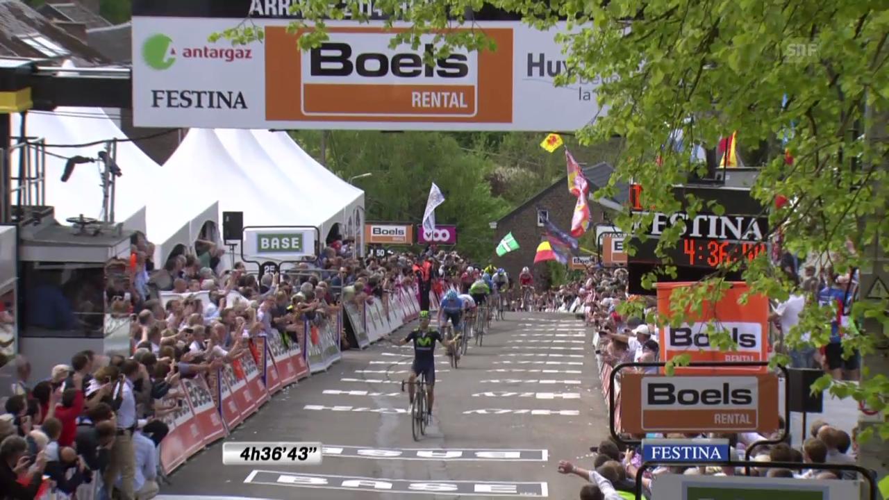 Rad, Flèche Wallone, die Schlussphase (unkommentiert)
