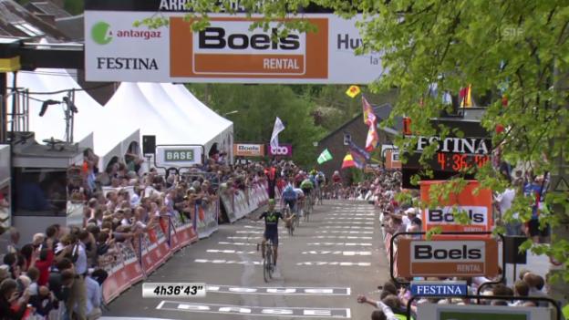 Video «Rad, Flèche Wallone, die Schlussphase (unkommentiert)» abspielen