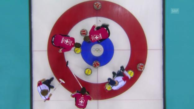 Video «Curling: Zusammenfassung Schweiz - USA (17.02.14)» abspielen
