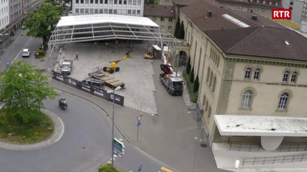 Laschar ir video «L'arena vegn construida»