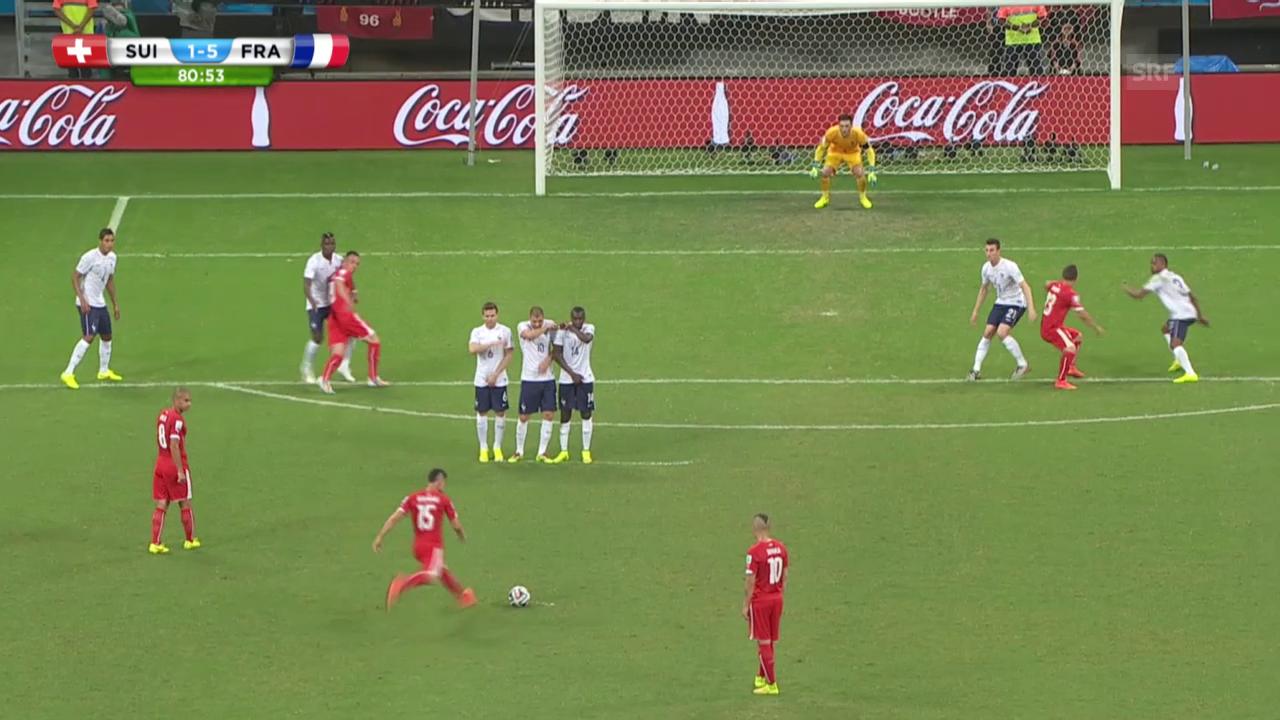 Fussball: WM 2014, Schweiz-Frankreich, Tor von Blerim Dzemaili
