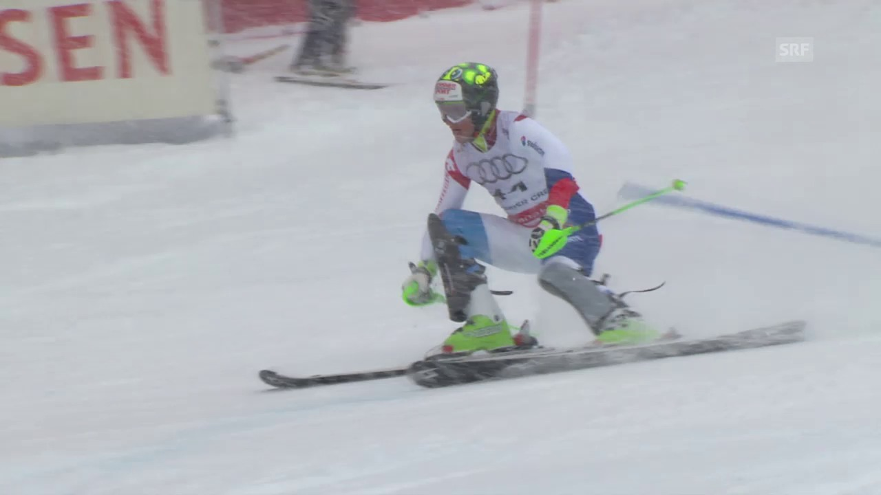 Ski-WM Vail/Beaver Creek, SL Männer, 2. Lauf Justin Murisier