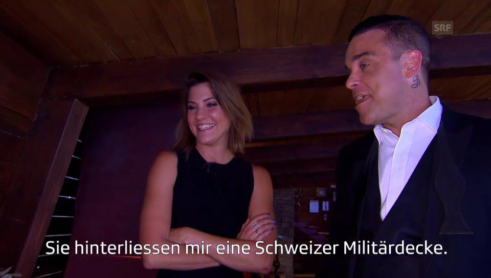 Annina Frey im Interview mit Robbie Williams