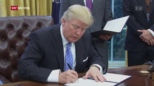 Video «Trump besiegelt Ausstieg aus TPP» abspielen