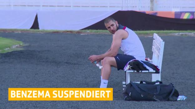 Video «Fussball: Benzema darf nicht für Frankreichs Nati spielen» abspielen