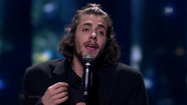 Video «Platz 1: Portugal mit Salvador Sobral und «Amar Pelos Dois»» abspielen
