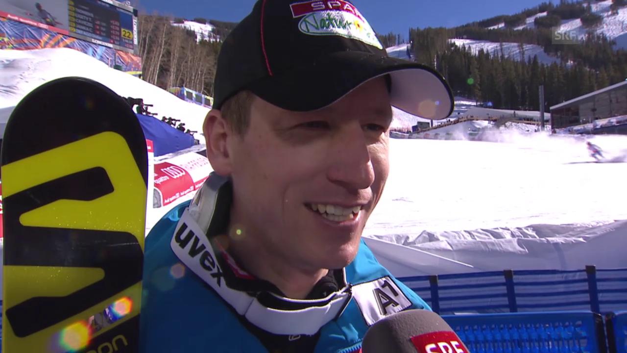 Ski: Interview mit Hannes Reichelt nach 2. Training