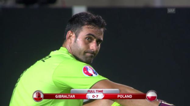 Video «Fussball: Gibraltar - Polen» abspielen