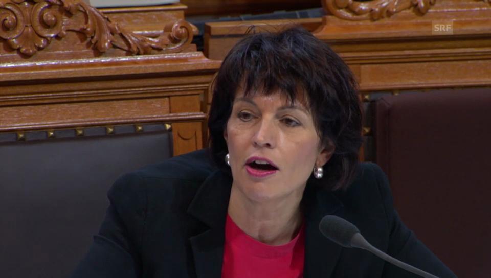 Bundesrätin Doris Leuthard zur Finanzierung