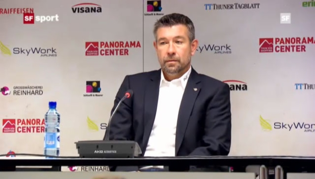 Video «Urs Fischer übernimmt beim FC Thun» abspielen