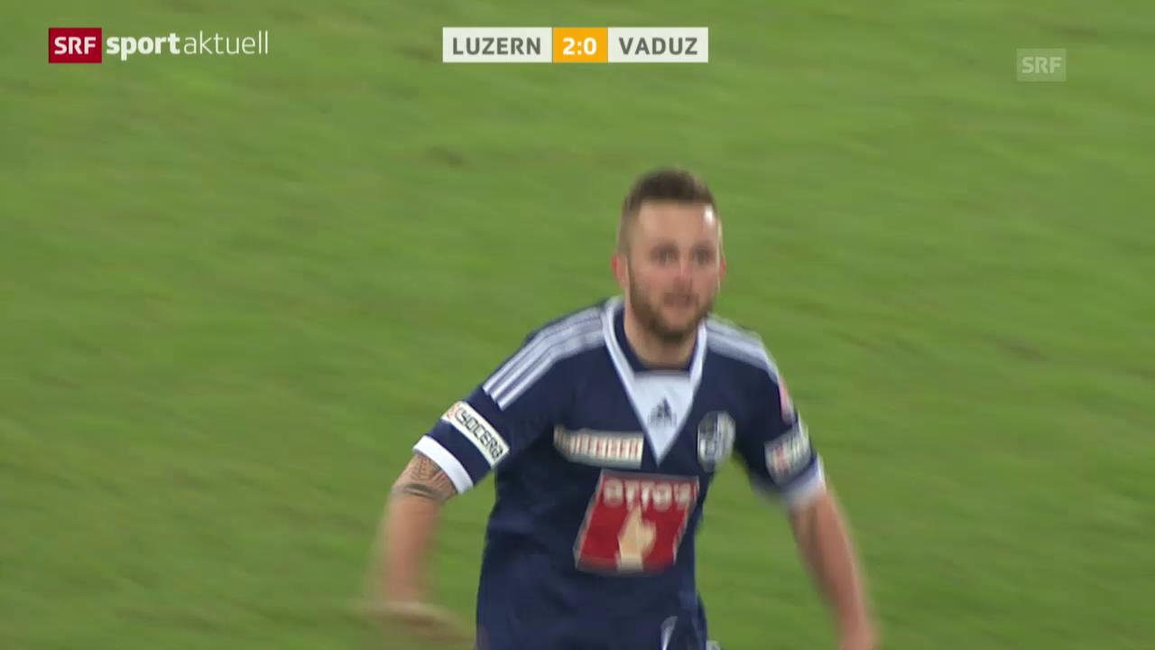 Fussball: Super League, Luzern - Vaduz