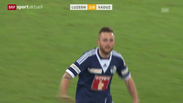 Video «Fussball: Super League, Luzern - Vaduz» abspielen