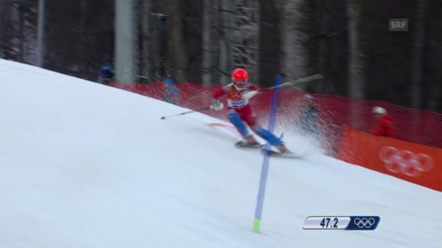 Video «Ski alpin: 1. Lauf von Michelle Gisin (sotschi direkt, 21.02.2014)» abspielen