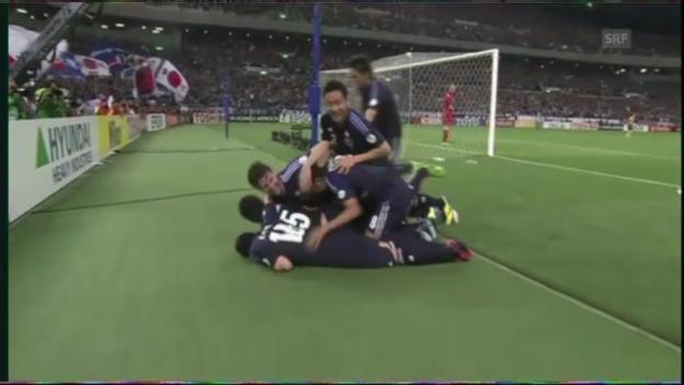 Video «Japan - Australien: Die Tore (ohne Kommentar)» abspielen