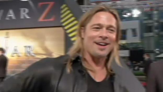 Video «Brad Pitt über das Geburtstagsgeschenk (Englisch)» abspielen