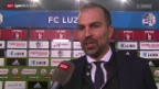 Video «Fussball: SL, Luzern - YB, Stimmen von Luzerner Seite» abspielen