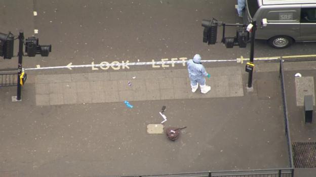 Video «Mann mit Messer in London festgenommen» abspielen