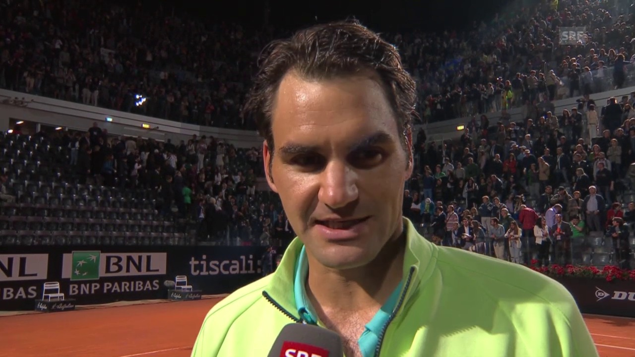 Tennis: ATP Rom, Halbfinal Federer - Wawrinka, Interview Federer