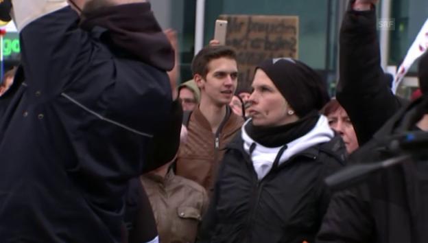 Video «Aufmarsch der Rechten: «Wir sind das Volk»» abspielen