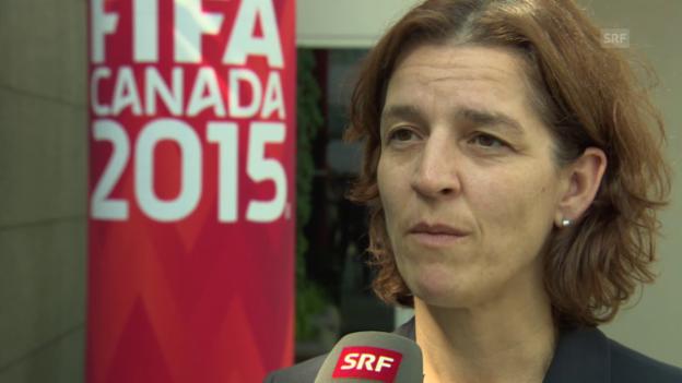 Video «Fussball: Frauen-WM, Interview» abspielen