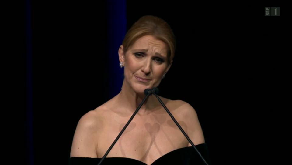 Céline Dion: Trauerrede für ihren Mann