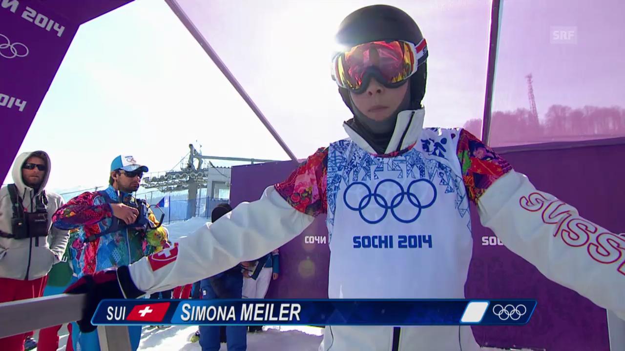 Halbfinal mit Simona Meiler (sotschi direkt, 16.02.2014)