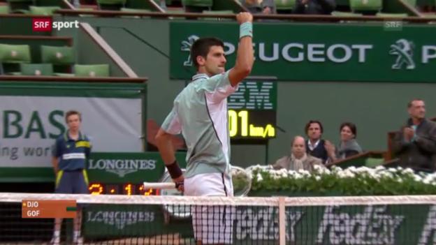 Video «Highlights Djokovic-Goffin» abspielen