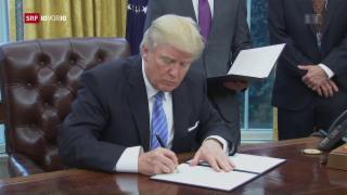 Video «Trump veranlasst Austritt aus der TPP» abspielen