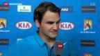 Video «Federer souverän gestartet» abspielen