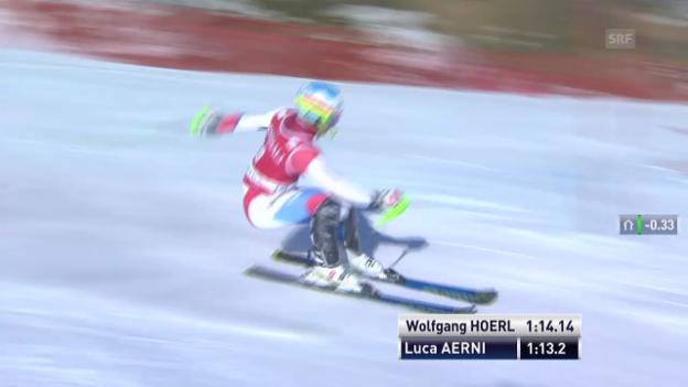 Video «Der 2. Lauf von Luca Aerni («sportlive», 15.12.2013)» abspielen