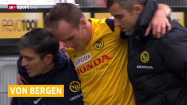 Video «Fussball: Von Bergen fällt lange aus» abspielen