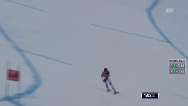 Video «Ski: Abfahrt Beaver Creek, Fahrt von Silvan Zurbriggen» abspielen