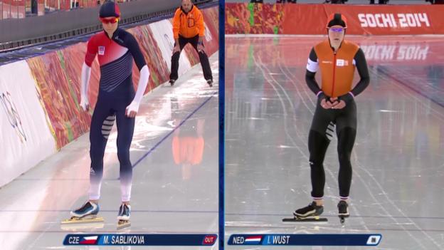 Video «Sotschi: Eisschnelllauf, 5000 m Frauen» abspielen